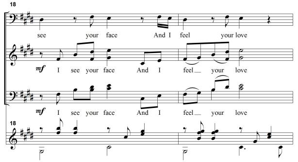 example 2: chorus from And I Feel Your Love from St Stephen's Psalter